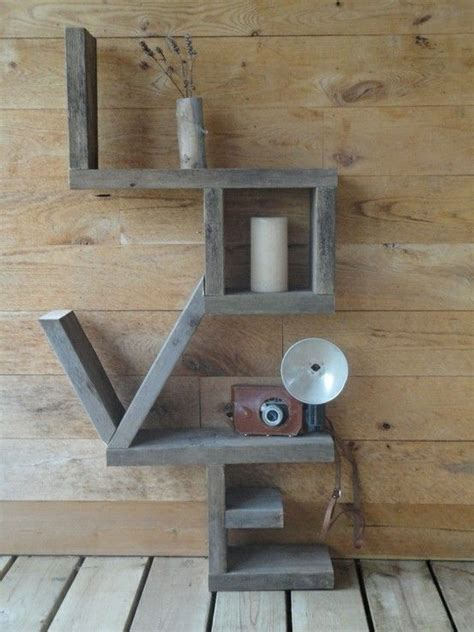 shelf made out of 2x4 pallet