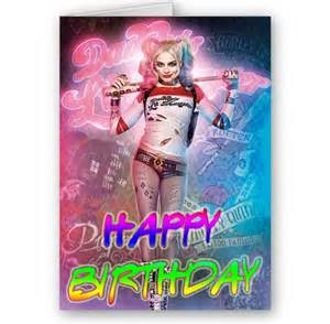 harley quinn birthday card squad harley quinn a5 happy birthday card