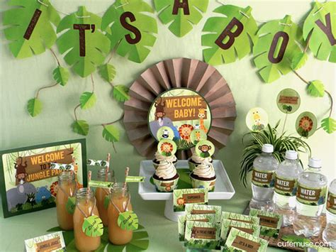baby shower jungle theme decorations jungle safari theme baby shower printable package