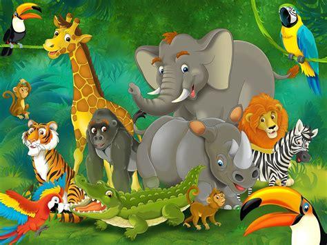 Toddler Wall Murals wild animals cartoon images animals pinterest
