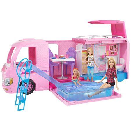 barbie dreamcamper adventure camping playset walmart.com