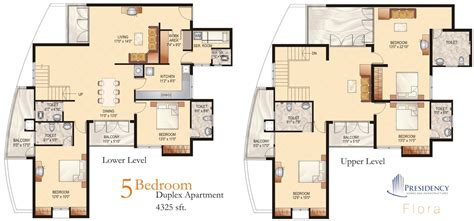 House Plans With 2 Master Bedrooms by Presidency Flora 2 3 5 Bedroom Flats Apartments