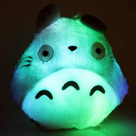 light up plush pillow new 2014 totoro shape led light up colorful pillow in