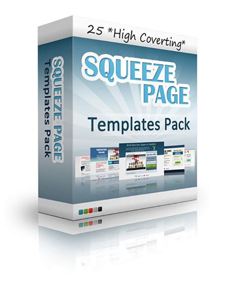 i give you 25 high converting squeeze page templates for