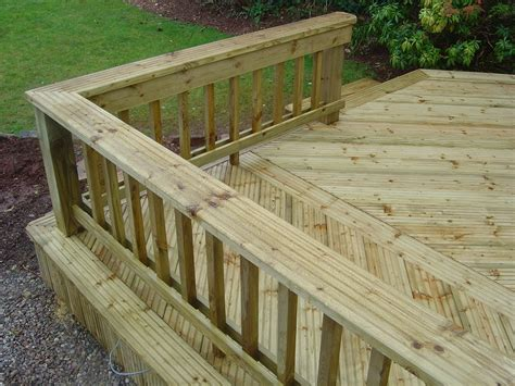 decking banister deck king seating and handrail ideas