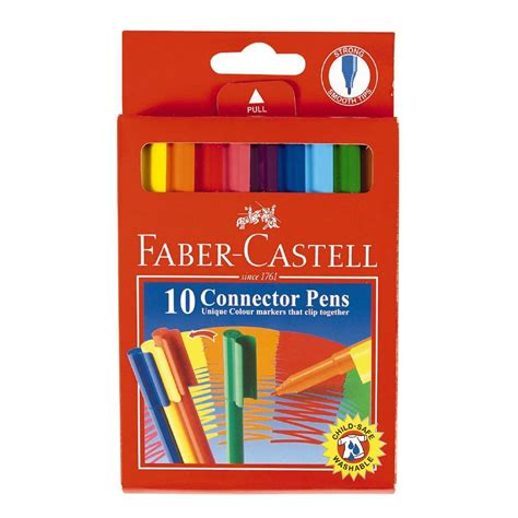 Connector Pen Faber Castell 10 Color faber castell connector pens 10 pack the warehouse