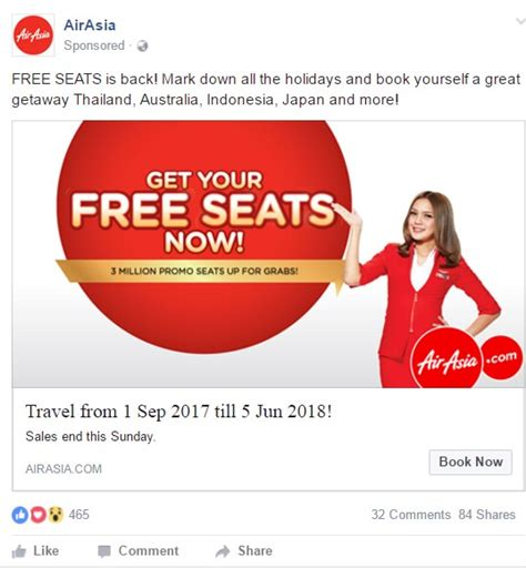 airasia facebook airasia facebook ad cause effect