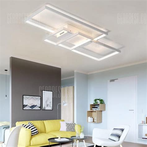 smart ceiling fan and light combination modern nature white led flush mount ceiling light square