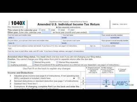 Learn How to Fill the Form 1040X Amended U.S. Individual ... M 1040x