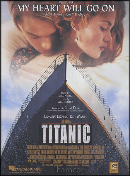 film titanic my heart will go on my heart will go on piano vocal guitar sheet music love