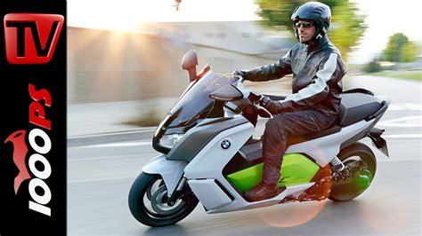 Elektro Motorrad Test 2015 by Video Test Video Bmw C Evolution 2014 Elektro Scooter