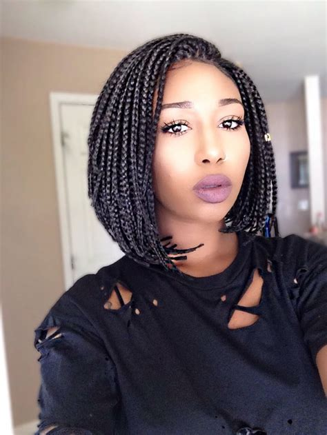 Pics Of A Braided Bob Style With The Back Nape Shaved | best 20 box braid wig ideas on pinterest