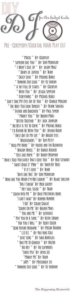 Wedding Song List For Dj 2017 by How To Plan Your Wedding Reception Printable List