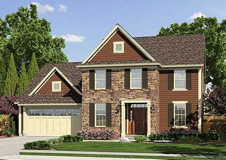 traditional two story home plan 39169st | architectural