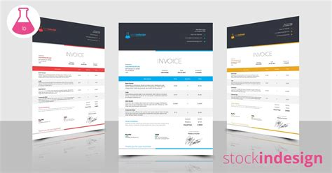 Elegant Invoice Template Indesign Template Indesign Invoice Template