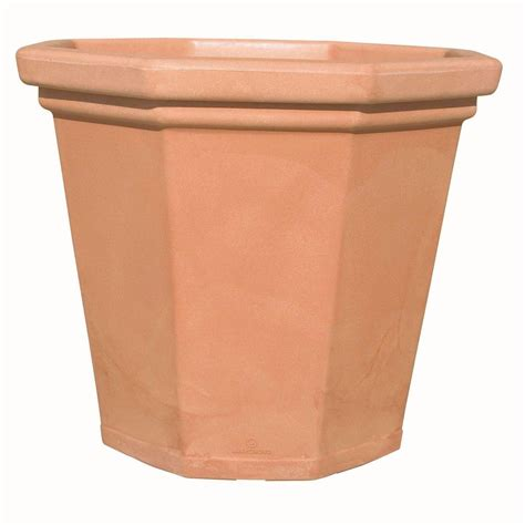 Home Depot Planters by Marchioro 20 In Octagonal Terra Cotta Plastic
