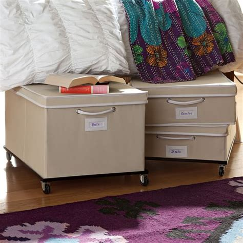 under bed storage frame rolling underbed storage frame pbteen