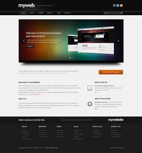 Myweb Cuber Website Template 3d Cuber Css Templates Dreamtemplate 3d Web Design Templates Free
