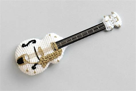 amigurumi guitar pattern gretsch white falcon in crochet a fantastic guitar