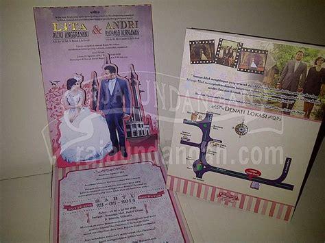 desain undangan pernikahan pop up undangan pernikahan pop up 3d lita dan andri edc 89