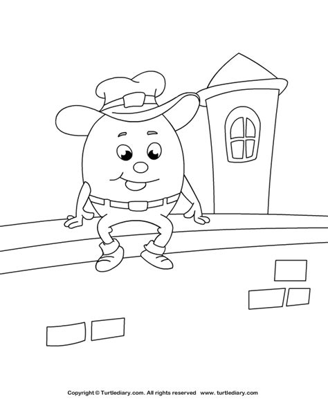 Humpty Dumpty Coloring Sheet Turtle Diary Humpty Dumpty Coloring Page