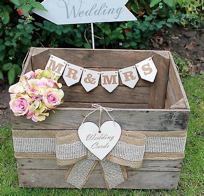 Wedding Card Crate by Vintage Wooden Wedding Cards Crate Post Box Rustic Shabby