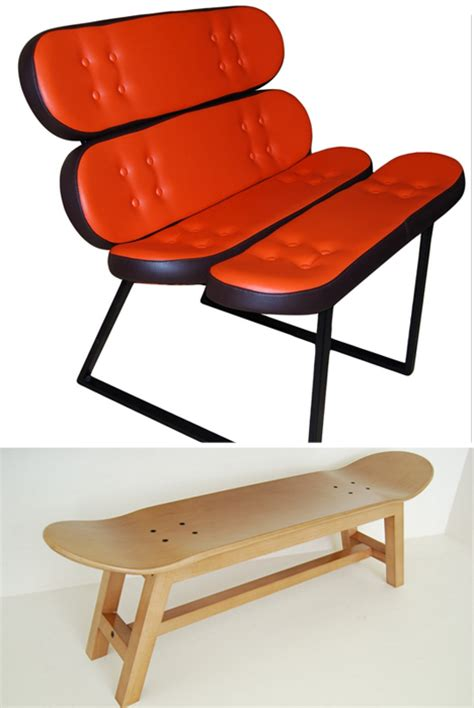 Modern Skateboard Furniture Skateboard Furnishings Add A Sporty Edge To Any Home