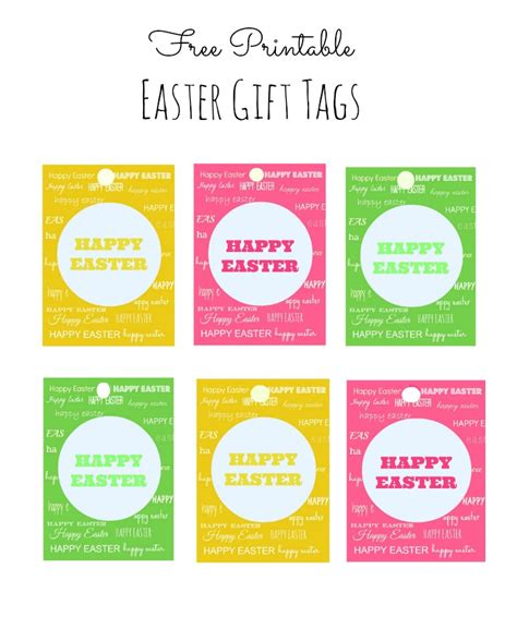 easter gift card template easter gift tags print free merry and happy