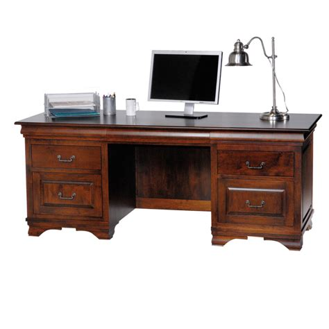 Morgan Executive Desk Home Envy Furnishings Solid Wood Executive Desk