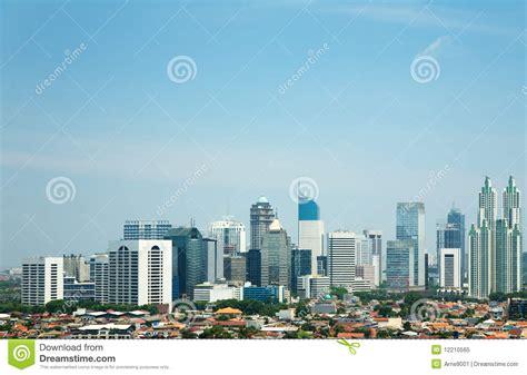 Sikat Mangkok 3 Kuningan Max Sell skyline of jakarta royalty free stock photo image 12210565