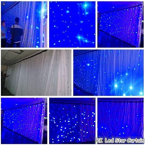 led curtains wholesale high quality rgb tri color wedding backdrop led star