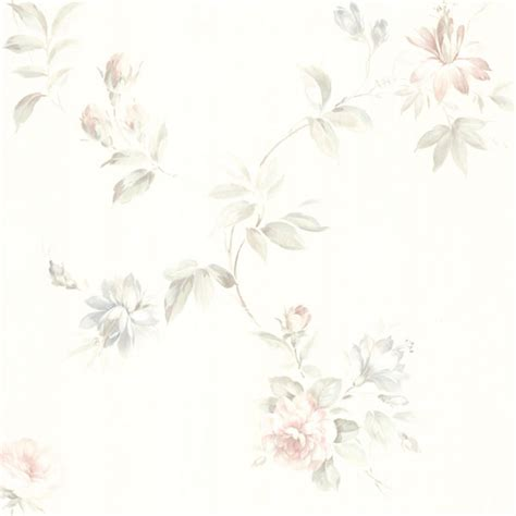 436 42314 White Floral Trail Adeline Brewster Wallpaper