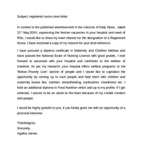 registered cover letter sle nursing cover letter exle 10 free