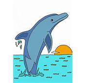 Dolphin Color By Number Colouring Pages Page 3