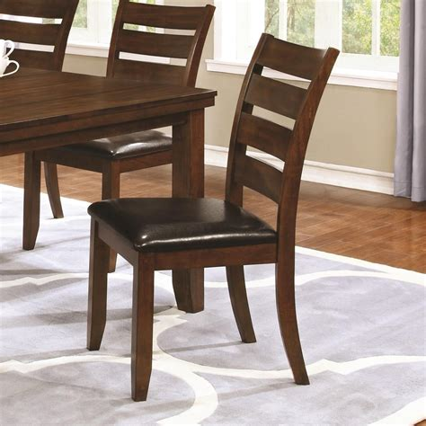 coaster maxwell dining chair with upholstered seat value