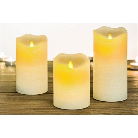 candele a led con telecomando set3 pz candela led rustic con telecomando cits shop