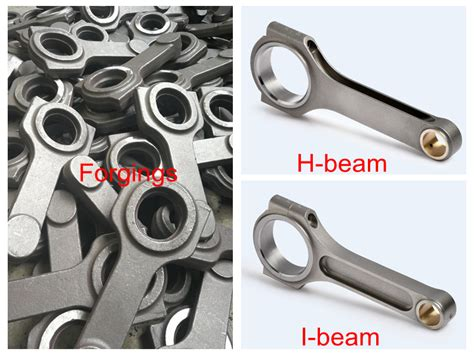 forged  steel connecting rod set  honda jmm rod length racing connecting rods