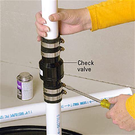 sink drain check valve water softener water softener drain check valve