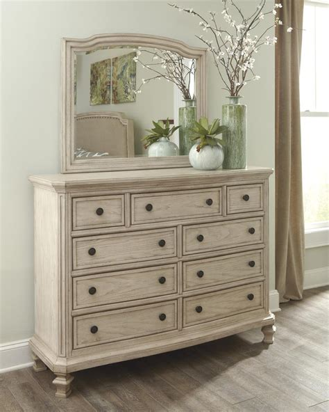 Bedroom Dresser Furniture Demarlos Bedroom Mirror By Millennium