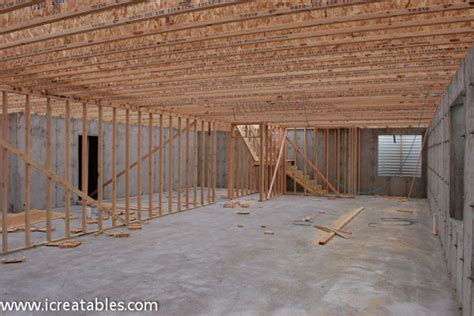 how to build concrete basement cross plan