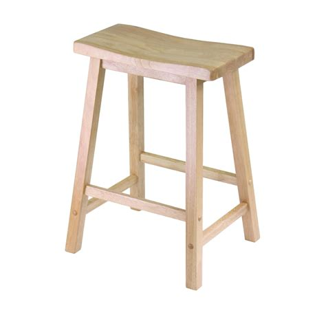 saddle stool winsome wood 24 quot saddle seat stool nat