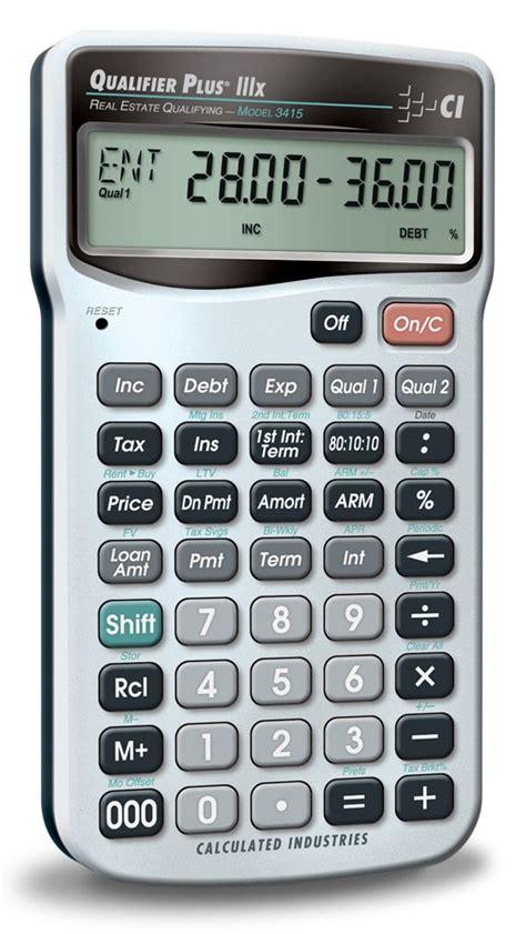 calculated industries 3415 qualifier plus iiix