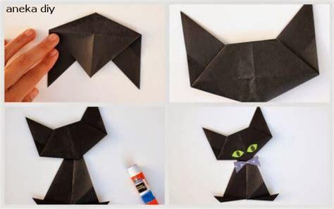 Membuat Robot Dari Kertas Origami   cara membuat origami kucing lengkap bikin ide