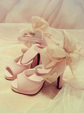 list of jointed doll brands bjd pink beige high heel shoes for sd16