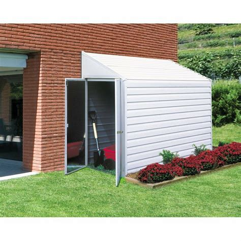 garden storage shed metal  utility outdoor building lawn tools angled roof ebay