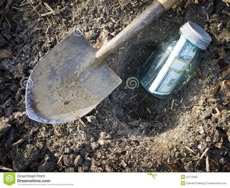 buried in the backyard buried treasure hiding money stock image image of