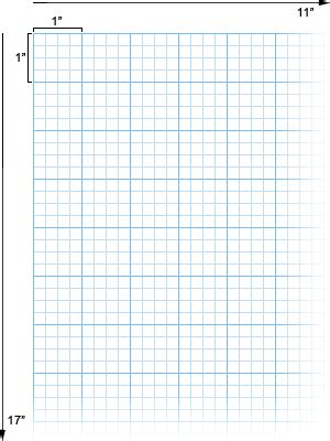 Alvin Cross Section Paper With 4 X 4 Grid 11 Quot X 17 Quot No