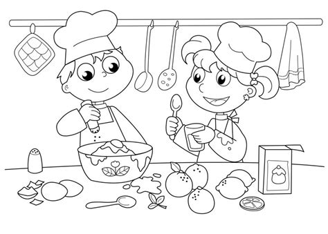 baker coloring pages preschool worksheets on baking for preschoolers google search