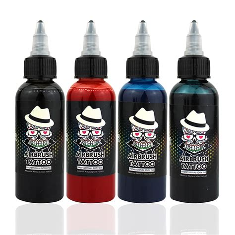 removable tattoo ink ophir 60ml bottle common airbrush temporary ink