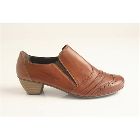 high cut shoes for rieker rieker brown leather high cut shoe with elasticated